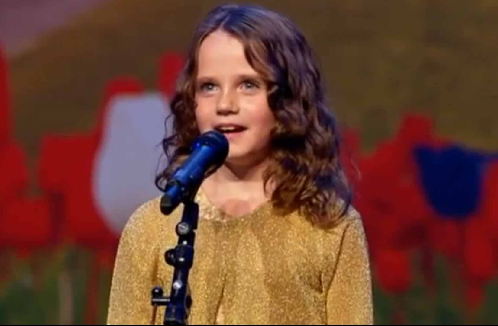 9-Year-Old Girl Sings Opera on Holland's Got Talent