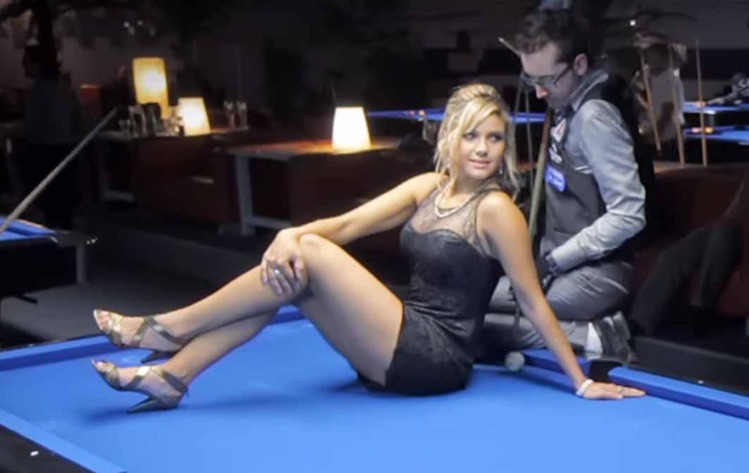 Sexy pool trick shots 9