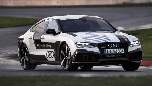audi rs 7 completes hot lap at grand prix race track without driver. Black Bedroom Furniture Sets. Home Design Ideas