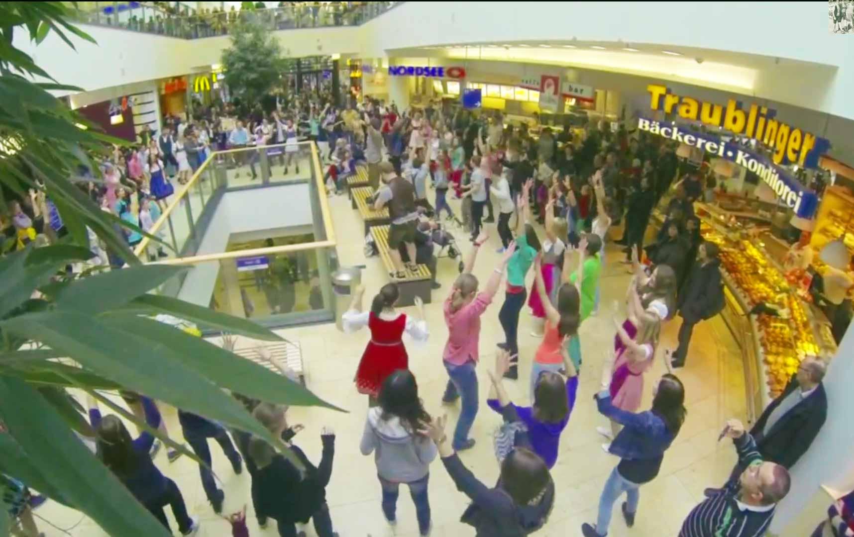 Bavarian Flash Mob In Munich