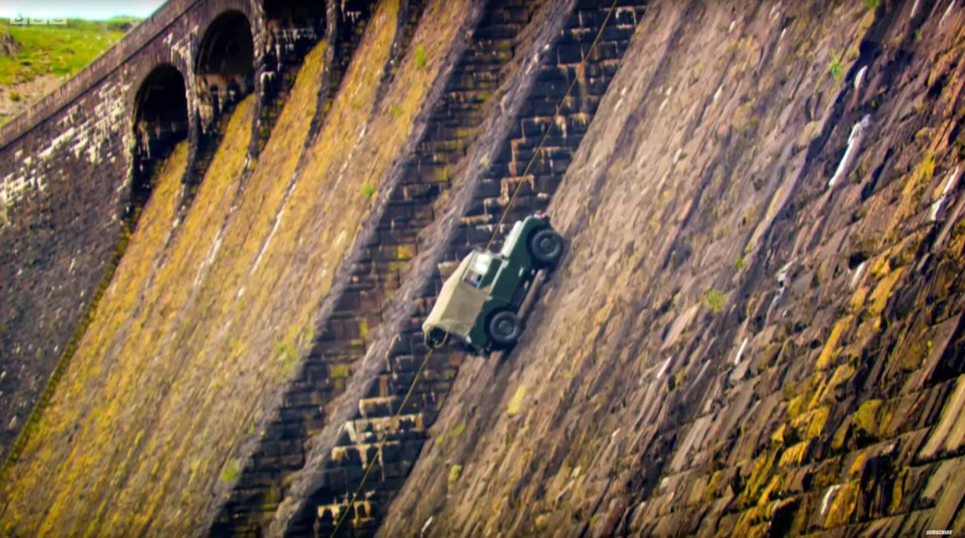 Climbing A Dam In A Land Rover Top Gear 2015