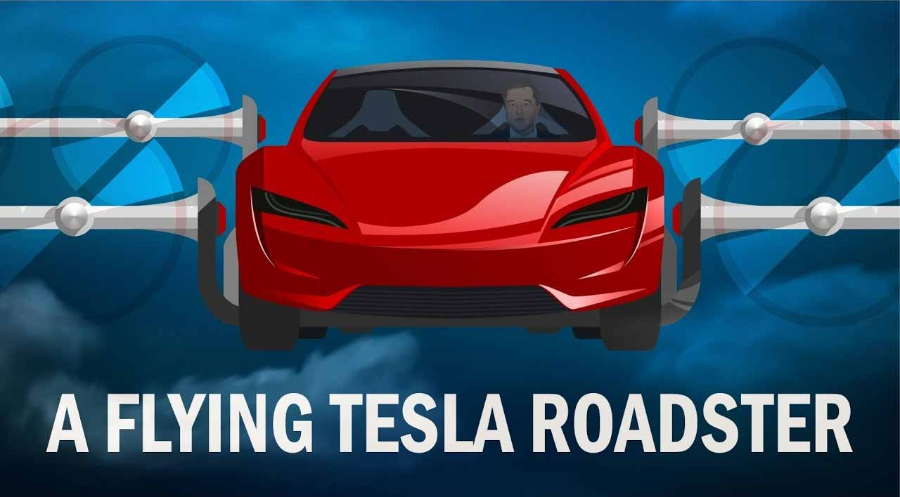 Tesla Battery Cost >> Flying Tesla Roadster And The Future Of Flying Cars