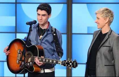 french canadian elvis david thibault sings blue christmas on ellen