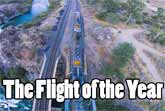 Master R/C Pilot Flies His Drone Underneath A Moving Train
