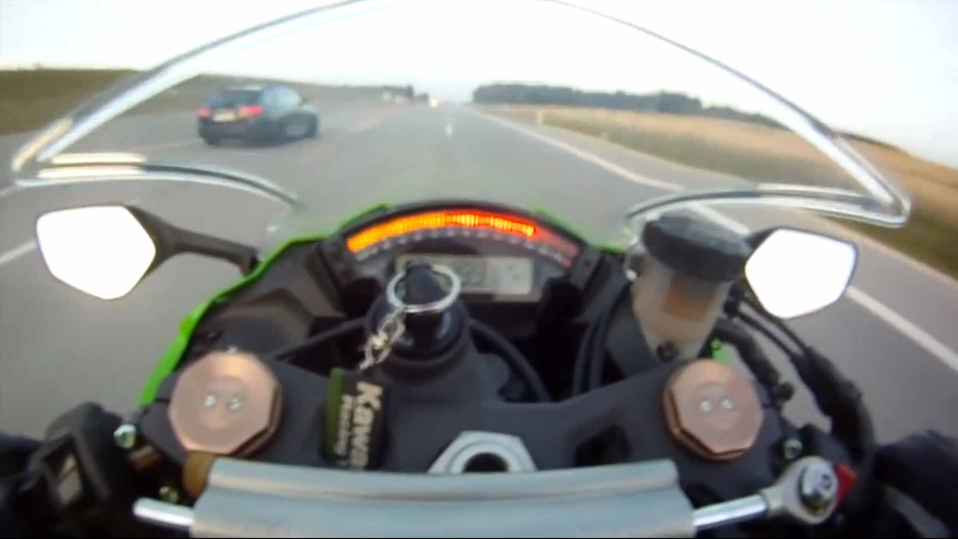 motorcycle driving 300km h on autobahn gets passed by audi rs6 autobahn gets passed by audi rs6